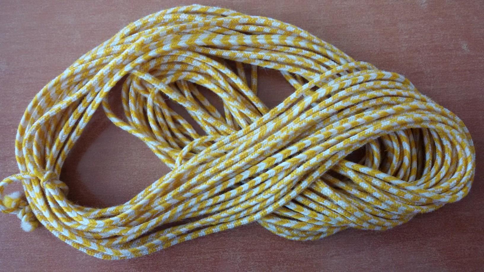 Гайтан двуцветен бяло-жълт GT16001