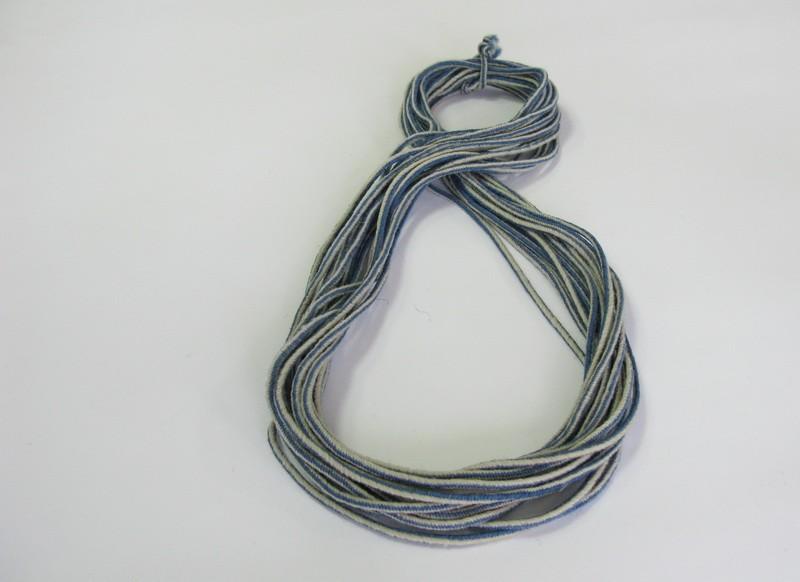 Гайтан двуцветен бяло-син 15 м. - GT10003