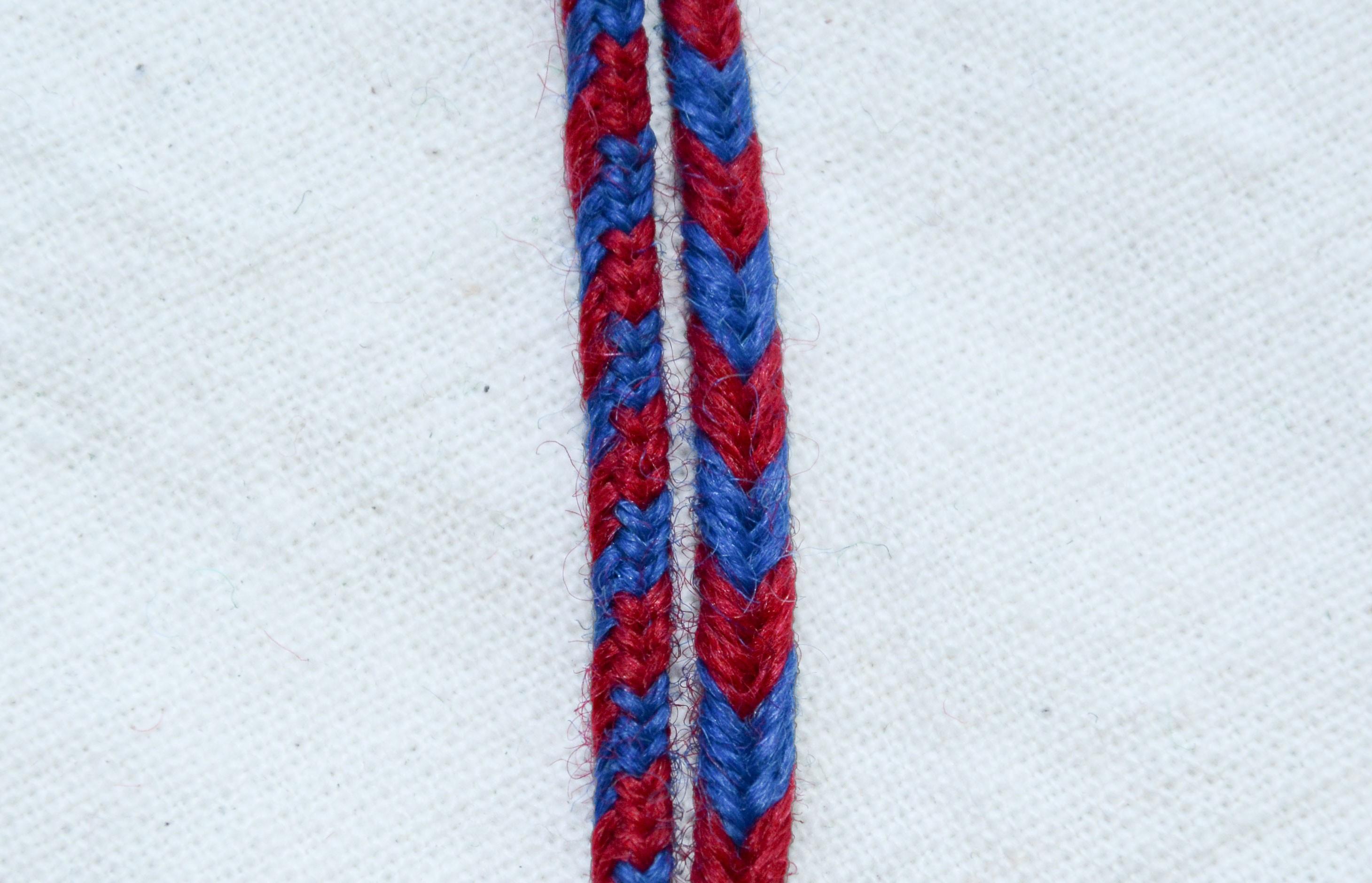 Гайтан двуцветен синьо-червен GT16002