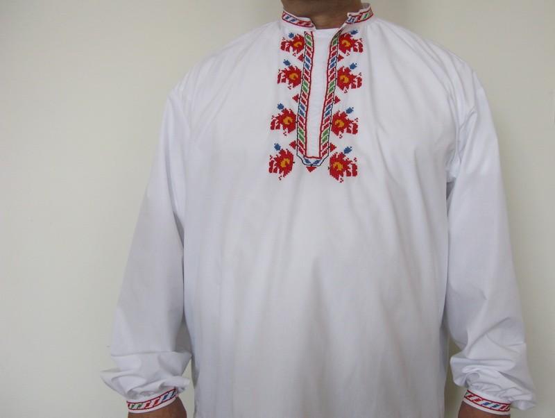 Мъжка риза с бродерия TR10005