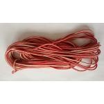 Гайтан двуцветен бяло-червен 15 м. - GT17003